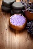Lavender bath salt Stock Image