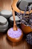 Lavender bath salt Stock Images
