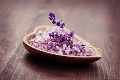 Lavender bath salt Stock Images