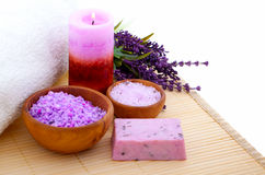 Lavender bath salt, Stock Image