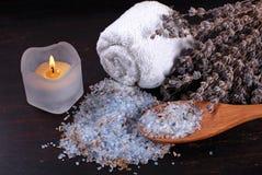 Lavender bath salt Royalty Free Stock Photo