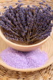 Lavender bath salt Royalty Free Stock Photography