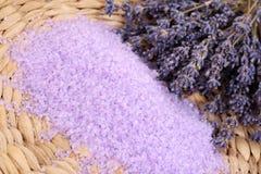Lavender bath salt Stock Photos