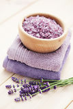 Lavender bath salt Royalty Free Stock Image