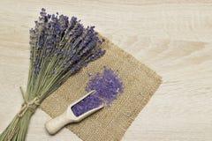 Lavender bath salt. Royalty Free Stock Image