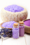 Lavender bath salt for Spa Royalty Free Stock Photos