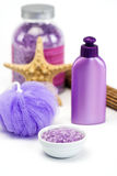 Lavender bath salts Stock Images