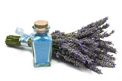 Lavender bath salts. stock photo
