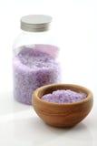 Lavender bath salts Royalty Free Stock Image