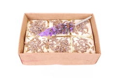 Lavender bathing soap Stock Photography