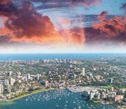 Lavender Bay aerial view, Sydney Stock Photo