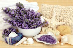 Lavender Beauty Treatment Royalty Free Stock Photography