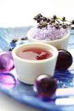 Lavender body care Royalty Free Stock Image