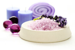 Lavender body care Royalty Free Stock Photography