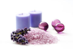 Lavender body care Royalty Free Stock Images