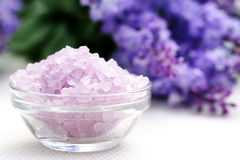 Lavender body care Stock Photo