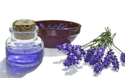 Lavender and body gel Royalty Free Stock Photography