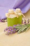 Lavender body scrub body. Stock Image