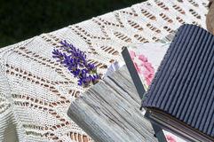 Lavender is a bookmark. Lavender is a bookmark in book Royalty Free Stock Photo
