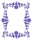 Lavender border ornamental Royalty Free Stock Photography