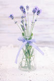 Lavender in bottle Royalty Free Stock Image