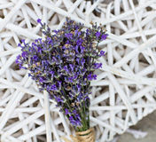 Lavender. Bouquet of lavender on the table Stock Photo