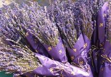 Lavender bouquets. Lavender is famous for its pleasant scent stock images