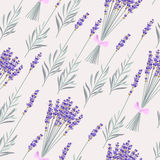 Lavender bouquets seamless Royalty Free Stock Images