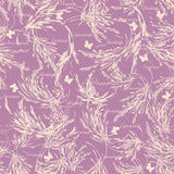 Lavender branches seamless pattern. Vintage style. Royalty Free Stock Photography