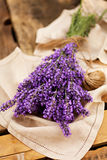 Lavender bunch on napkin Royalty Free Stock Photography