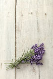 Lavender bunch on old board Stock Photo