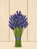 Lavender bunch on a wooden background Stock Photography