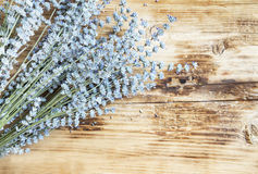 Lavender Bunch on Wooden Background Royalty Free Stock Photography