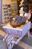 Lavender bunches selling in a gift shop in Provence Stock Photos