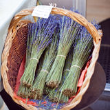 Lavender bunches selling in an outdoor french market Stock Photography
