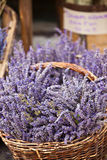 Lavender bunches selling in a outdoor french market Stock Photography