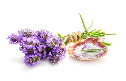 Lavender bundle and bath salt Stock Photo
