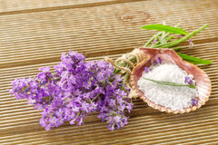 Lavender bundle and bath salt Stock Photography