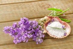 Lavender bundle and bath salt Stock Photography