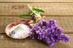 Lavender bundle and bath salt Stock Images