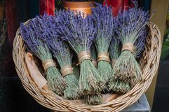 Lavender Bundles. Bundles of lavender in an outdorr market Stock Photography