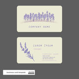 Lavender business cards. Stock Photo