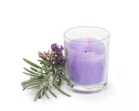 Lavender Candle Royalty Free Stock Photos