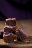 Lavender chocolate brownies Stock Photos