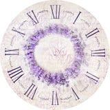 Lavender clock. Royalty Free Stock Photos