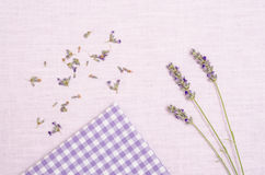 Lavender on a cloth Royalty Free Stock Photo