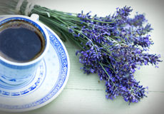 Lavender and coffee Royalty Free Stock Image
