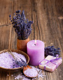 Lavender concept Stock Photography