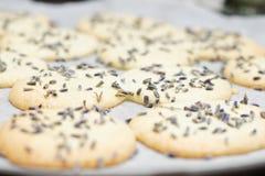 Lavender cookies Stock Image