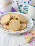 Lavender cookies on a plate Stock Photo